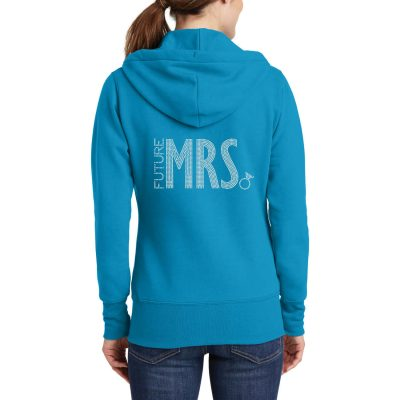 "Rhinestone ""Future Mrs."" Full-Zip Bride Hoodie - Block"