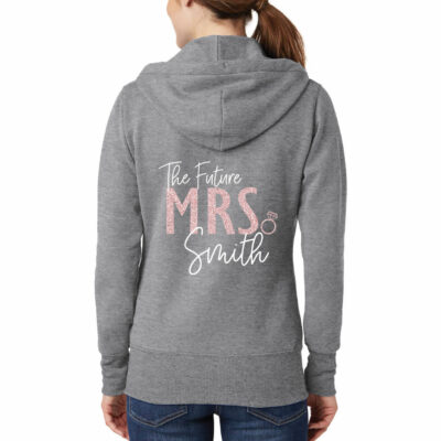 """The Future Mrs."" Full-Zip Bride Hoodie"