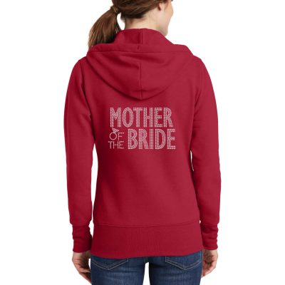 Full-Zip Rhinestone Mother of the Bride/Groom Hoodie