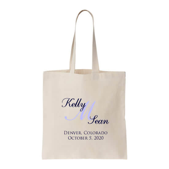 Personalized Welcome Bag with Bride & Groom Monogram