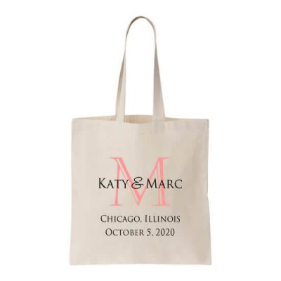 Personalized Welcome Bag with Heart Monogram & Date