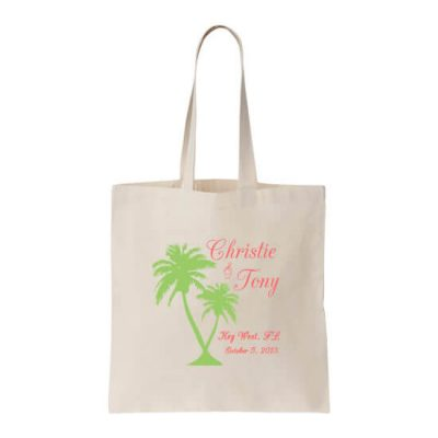 Personalized Welcome Bag with Palm Trees
