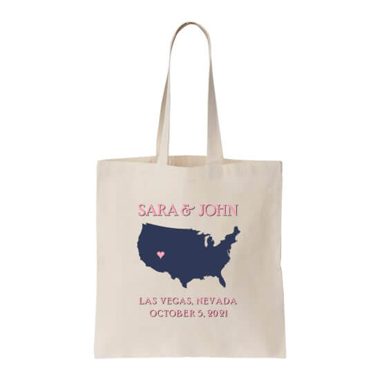 Personalized Welcome Bag with Wedding Location