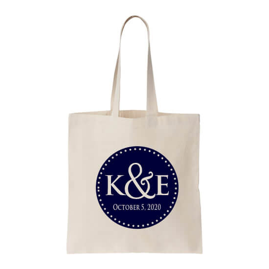 personalized welcome bag with initials date personalized wedding