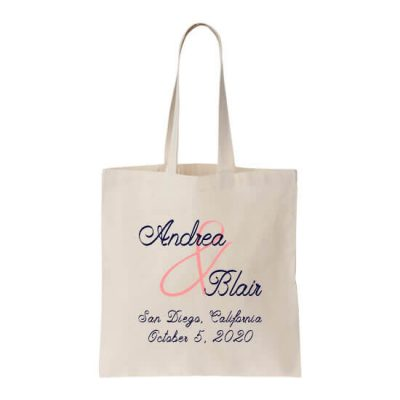Personalized Welcome Bag with Names & Date