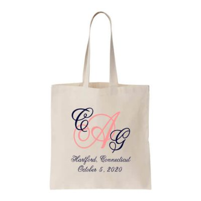 Personalized Welcome Bag with Monogram & Location