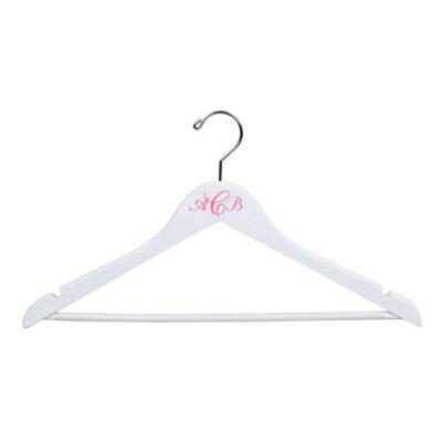 Monogrammed White Hanger