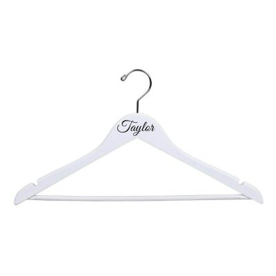 White Bridal Party Hanger with Name