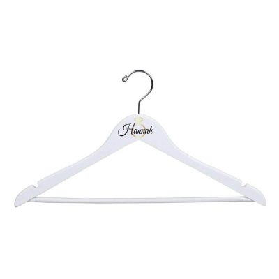 White Hanger with Name & Ring