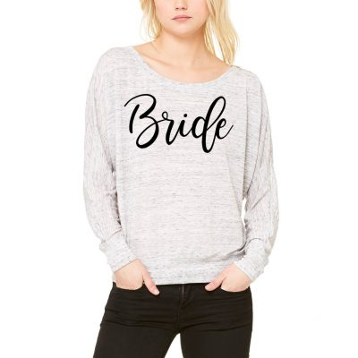 Rhinestone Off Shoulder Bride Shirt - Block
