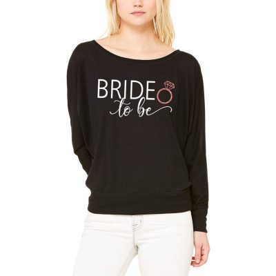 "Wide Neck ""Bride to be"" Shirt"