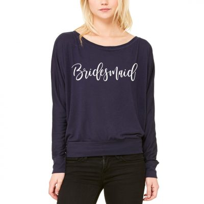 Wide Neck Bridesmaid Shirt