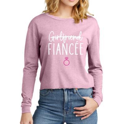 "Rhinestone ""I Said Yes!""  Off Shoulder Bride Shirt"