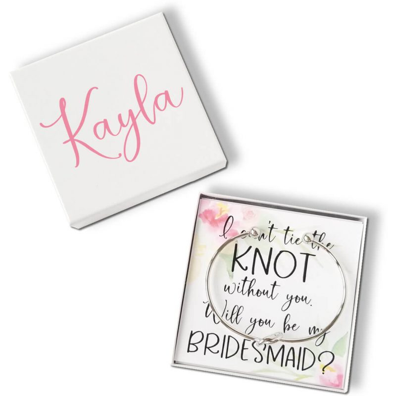 """""""Will You Be My Bridesmaid?"""" Knot Bracelet Gift Box - Corner Flowers"""
