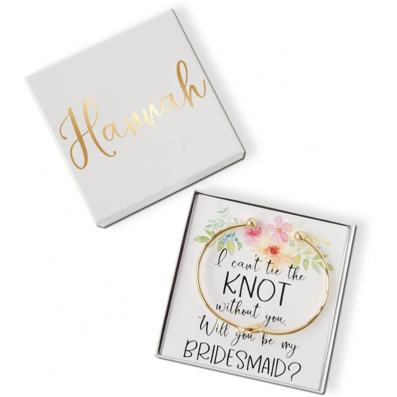 """""""Will You Be My Bridesmaid?"""" Knot Bracelet Gift Box - Top Flowers"""