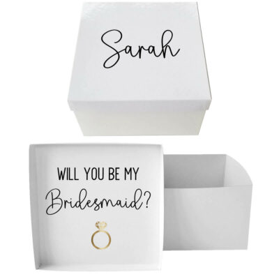 """Will You Be My Bridesmaid?"" Proposal Box"