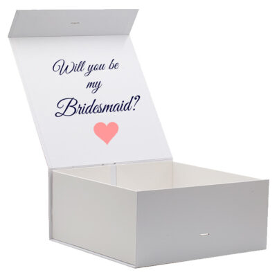 Will you be my Bridesmaid proposal box - open