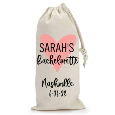 Personalized Bachelorette Party Wine Bag