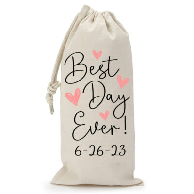 """Best Day Ever"" Wine Bag"