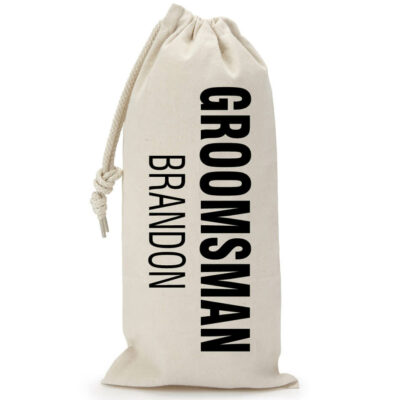 Personalized Groomsman Wine Bag with Name