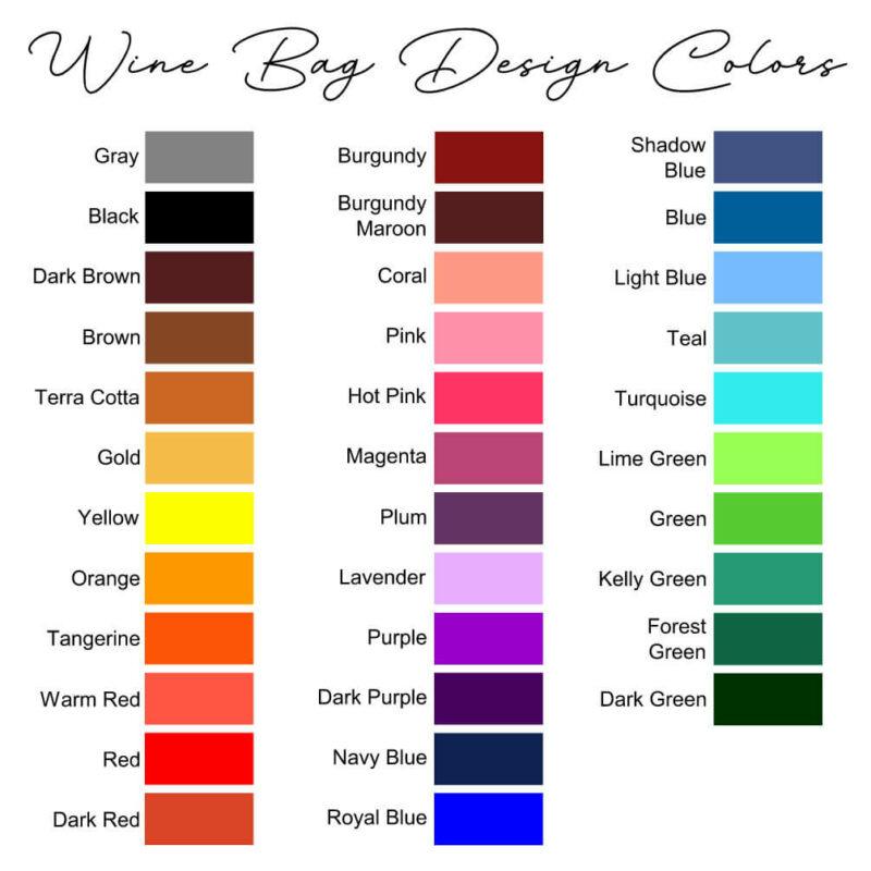Wine Bag Design Colors