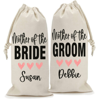 Personalized Mother of the Bride/Groom Wine Bag