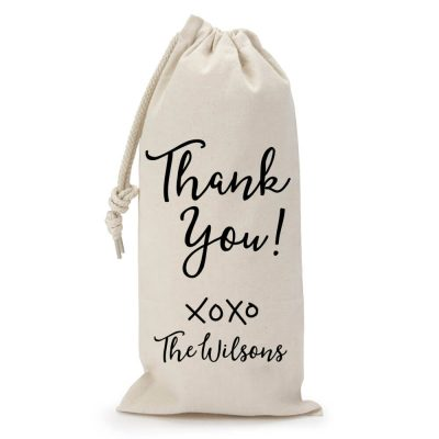 "Personalized ""Thank You"" Wine Bag"