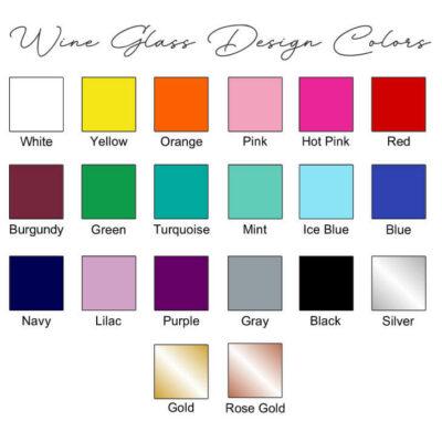 Wine Glass Design Colors