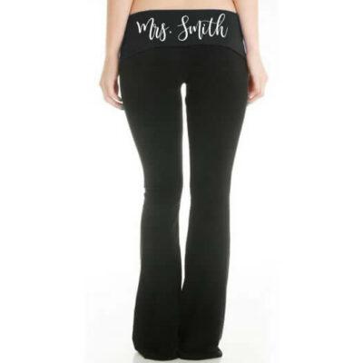 "Personalized ""Mrs."" Bride Yoga Pants"