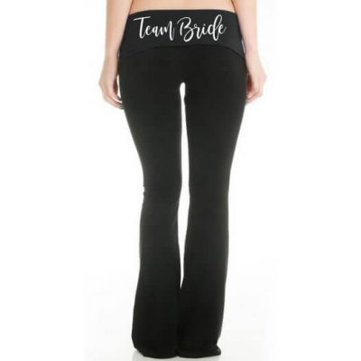 """Team Bride"" Yoga Pants"
