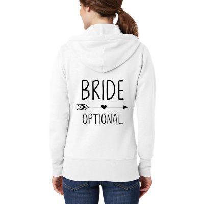 """BRIDE"" Full-Zip Hoodie with Arrow"