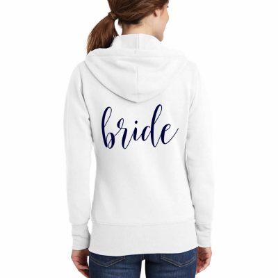 Full-Zip Bride Hoodie - Lowercase Script