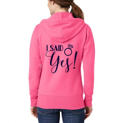 """I Said Yes!"" Full-Zip Hoodie"