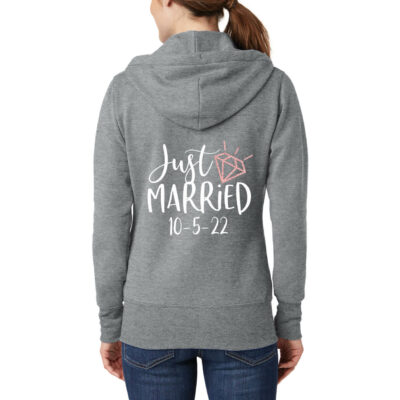 """Just Married"" Full-Zip Hoodie"