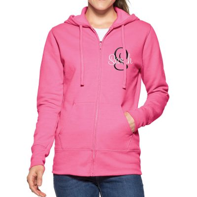 Personalized Full-Zip Bride Hoodie with Initial