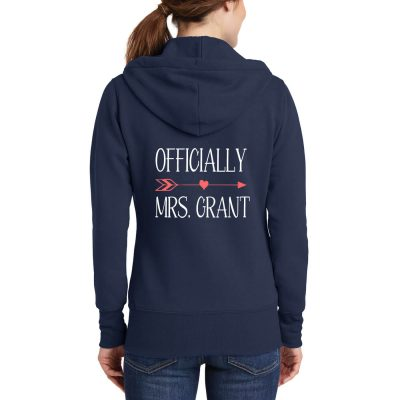 """Officially Mrs."" Full-Zip Hoodie"