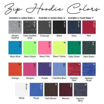 Zip Hoodie Colors