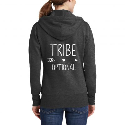 """TRIBE"" Full-Zip Hoodie with Arrow"