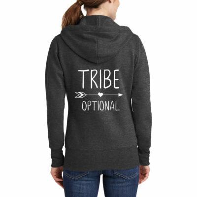 """TRIBE"" Full-Zip Hoodie with Arrow"
